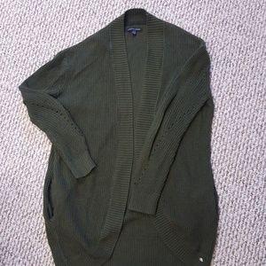 Green American Eagle cardigan